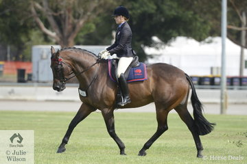 Tess O'Connor rode her own and Stephanie O'Connor's nomonation, 'D'Artagnan' to win the class for Ridden ANSA Over 16hh and go on to claim the Ridden ANSA Championship.