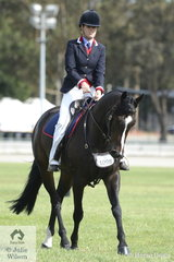 Tiffany Watterson's, Hardrock Big Q won the class for ANSA Ridden Young Horse 3 yrs and under.
