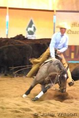 Troy Randle rode Pepped Up Spin to score 131 in the 1st Go Round of the EquiPro Derby.