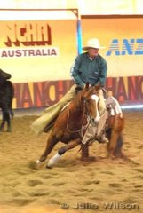 Ian Francis rode Dixie Chic O Lena to score 145 in the 1st Go Round of the EquiPro Derby.