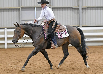 Tracey Atkins riding Ceein Radical in the Amateur Ranch Riding.
