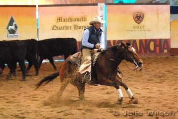 Frank Green rode Spinelli to score 137 in the 1st Go Round of the EquiPro Derby.