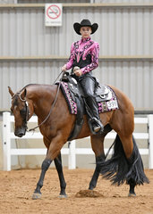 Dazhara Mears riding GF Cattle Camp Kid in the Senior Youth Horsemanship 14-18 years.