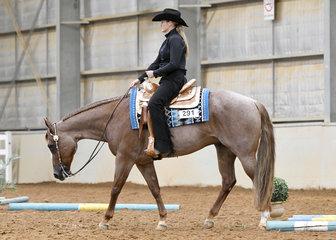 Lisa Fleming riding Hunk Of Burnin  Love in the Amateur Senior Horse Trail