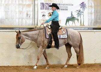 Matt Freiberg on SomejustlikeTo Smooch in the Junior Horse Western Pleasure.
