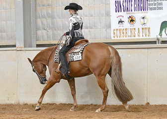 Michaela Wastell on SVQ My Only Asssett in the Senior Youth Western Pleasure 14-18 years.