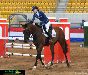 Eventer gone Show Jumping for the weekend - Matilda McCarroll and 'Cosmic Cube' jumped a double clear round in the Thoroughbred 1.10m which put them into third place at the Tamworth Indoor Championships..