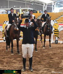 With only one rail separating the first four riders, Olympian Peter McMahon knew he had to jump clear and fast to get to the top of the leaderboard in the Peter Hoffman Cup on Saturday. Peter and 'K.S Sovereigns Cadel' were the only combination to have a double clear round.