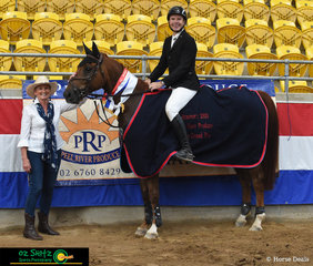 Sam Overton and 'Oaks Cassanova' took the win and also placed third on 'Point Break' in the Peel River Produce 1.40m Grand Prix at the Tamworth Indoor Championships.