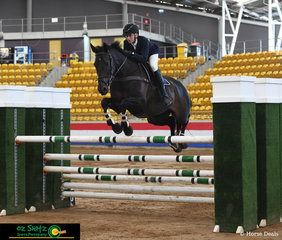 With a speedy time of 43.11 seconds with an unlucky rail in the jump off in the Open 1.25 Grand Prix placing third was Charlie Richardson and 'Mavrick'.