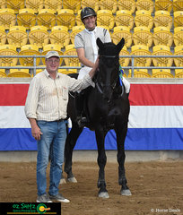 Winners are grinners - In the Open 1.20m - 1.25m Grand Prix, Thomas Sedger took first place on 'Big Dream Z' and fifth place on 'Alley Cat' at the Tamworth Indoor Championships.