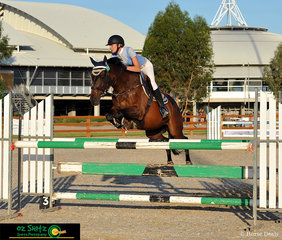 Moree local, Emily Patterson and 'Little Wick' competed in the Thoroughbred 1.20m and finished their round with the fastest time of 73.17 seconds but with an unlucky rail pushed them to fourth position.