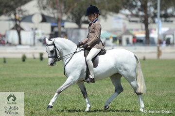 Melissa Harding's, 'Rivington True Royalty' has has a very successful show and today, ridden by Georgia Cronin won the class for Child's Show Hunter Pony N/E 12hh.