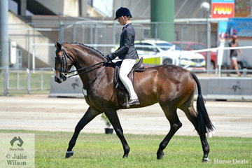 Jack Jackson rode Carmen Jackson's impressive, 'EBL Empress' that took second place in the class for Child's Show Hunter Over 16hh.
