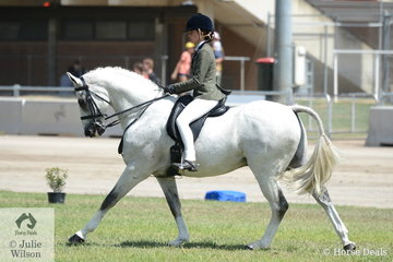 Eloise Clare rode the Eloise, Tom and Rozinda Clare nomination, 'Byalee Mist' to win the class for Child's Show Hunter 15-16hh.
