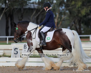 """Michelle Abela rode """"Red Rocky"""" in the Preliminary 1A Age Group 30-39 y/o"""