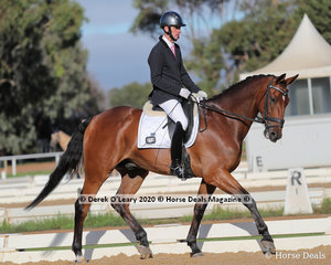"Stephen Valentine rode ""Northern Finnlaigh"" in the Preliminary 1A Dressage Age Group 30-39 years"