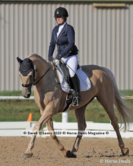 "Lee Ibrahim in the Preliminary 1A Dressage Age Group 30-39 years riding ""Artemis"""