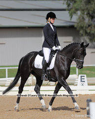 "Gemma Nadler rode ""Revelwood Fantasy"" in the Preliminary 1A Dressage Age Group 30-39 y/o"