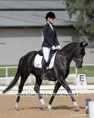 "Gemma Nadler rode ""Revelwood Fantasy"" in the Preliminary 1A Dressage Age Group 30-39 y/o"