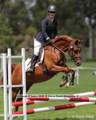 """Pamela Omrod in the 65cm Combined Training Age Group 60+ riding """"Newbury Apollo"""""""