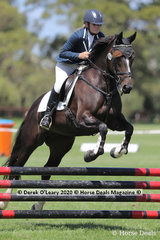 """Heather Bowers rode """"Dixie Jean"""" in the 80cm Combined Training Age Group 60+ years"""