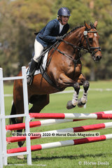 """Tracey savage rode """"Boots And All"""" in the 80cm Combined Training on Saturday in the Age Group 40-49 y/o"""