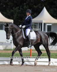 "Mandy Edwards looked smart in the Novice 2A riders 30-39 y/o Dressage riding ""San Sassy 1"""