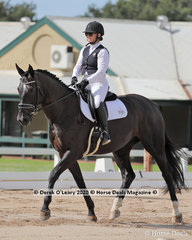 "Kate Osborne rode ""Santica"" in the Novice 2A dressage riders 30-39 y/o"