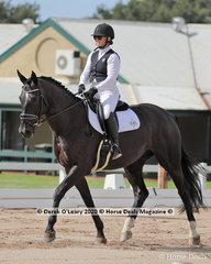 "Kate Osborne rode ""Santica"" in the Novice 2A dressage riders 30-39 y/o"