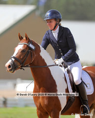 """Like many of the riders over the weekend, Lisa Hocking swapped roles of strapper with daughter Natasha and rode """"Kittani Zirkana"""" in the Novice 2A dressage"""