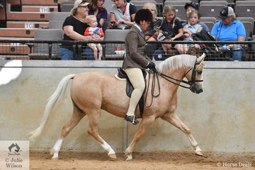 Alandi Durling rode her own and Di Durling's, 'Fontain Park Amber' (Kirreway Quirindi/ Broneter Park Rhapsody) to take second place in the class for Ridden Section B at the Australian Welsh and Part Welsh Ridden Championship Final.