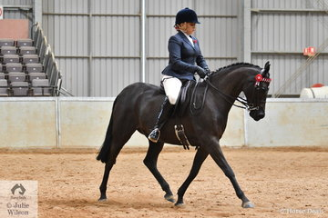 Holly Dennison rode her 'Royalwood Broadway' (Syon Royal Portrait imp UK/Lunch Abroad) to take fourth place in the class for Ridden Part Welsh 13.2-14.2hh.