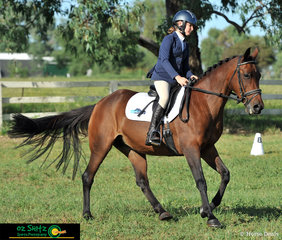 Enjoying themselves in their EvA 80 Junior Dressage test were Reese Spencer-Ruddy and Baringa Anastasia at the Tamworth International Eventing.