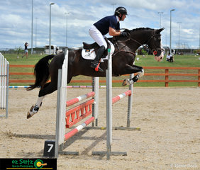 Ripleys Dreams CHS provided rider Damian Oconnell with a clear round in the Show Jumping phase of the EvA 95 competition. .