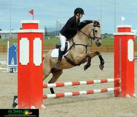 Junior rider Brooke Douglas and her pony Spirit competing in the EvA60cm Junior class at the Tamworth International Eventing.