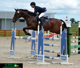 Competing at AELEC for the Tamworth International Eventing is 14 year old junior rider Charlie Richardson and Bellbirds Sandpiper in the CCI 2 Star.