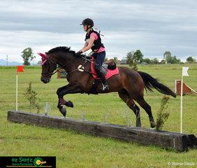Taking second place in the EvA 45cm is junior rider Ella Crowley and her horse Leonardo Ricciardo at Tamworth International Eventing..
