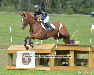 "Simon Tainsh placed 5th in the CCI4*-S riding ""remi Lord Of The Realm"" with a final score of 103.80"