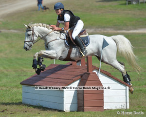 """Tarah Lawson placed 4th in the CCN1* section A riding """"Jive Jaye"""" with a final score of 28.50"""