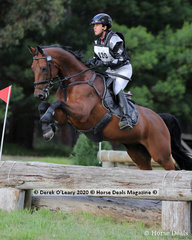 """Winners in the EVA80 Section A, Kylie Pedder riding """"Dicavelli Dimitri"""" with a winning score of 25.00 finishing on her dressage score"""