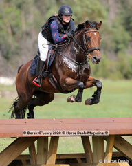 "Caitlyn Smith placed 2nd in the EVA 95 Section A riding ""WG Rococo"" with a final score of 26.20"