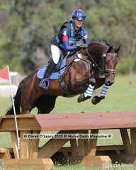 "Caitlyn Appleby placed 3rd in the EVA 95 Section B riding ""Regardez Secrets"" with a final score of 27.00"