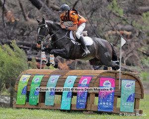 "Winner of the CCI3*-S, Samuel Jeffree riding ""Woodmount Lolita"" with a winning score of 49.00"