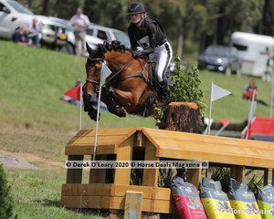 """Alexandra McDonough in the CCI3*-S riding """"Joie Du Lys"""" placing 6th with a final score of 96.10"""
