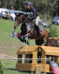 """Florence Goodwin riding """"Kendalee quantum Leap"""" in the CCI3*-S placing 7th with a score of 97.80"""