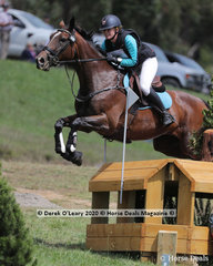 "Katie Slocombe riding ""Archery Miss"" in the CCI3*-S"