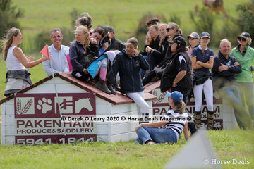 Tonimbuk provides lots of great spectator vantage points with wide views of the cross country course, this bunch watched from a jump position mid course