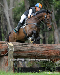 """Chloe Jaksic placed 4th in the CCI2*-S riding """"Holy Roller"""" with a final score of 50.10"""