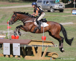 """Robyn Brown placed 3rd in the CCN1* riding """"Im Bobby Too"""" with a final score of 26.80 also finishing on her dressage score"""
